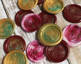 Pineapple wax seals-Set of 5