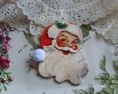 Santa 3-D Embellishment, Santa Decoration, Santa Claus, Holiday Santa, Embellishments, Holiday Decor, Vintage Look Santa Embellishment