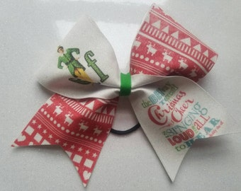 Elf Christmas Inspired cheer bow