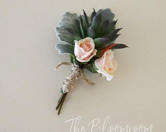 Grooms flowers / Rustic boutonniere / Wedding buttonhole / Silk boutonniere / Wedding buttonhole, / Groom boutonniere / Flower buttonhole