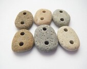Double Drilled Beach Pebbles - Set of 6