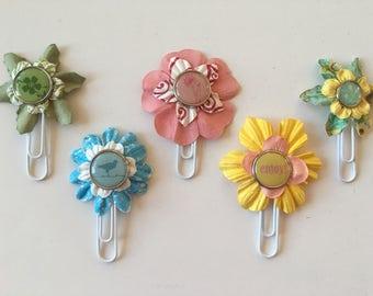 Planner Clips Spring Flowers journal accessories planner accessories bookmark