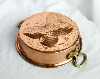 Vintage copper mold…cake pan…copper mold with a butterfly...butterfly mold.