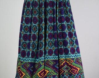 African Patterned Knee Length Skirt