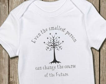 Lord of the Rings Baby, LOTR Onesie, LOTR Bodysuit, Infant T Shirt, Baby Photo Prop, Take Home Outfit, Baby Gift, Tree of Gondor