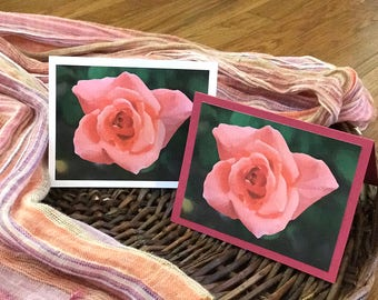 Rose Photo Card - Print Your Own
