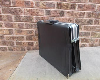 Vintage black faux briefcase by Cavalet