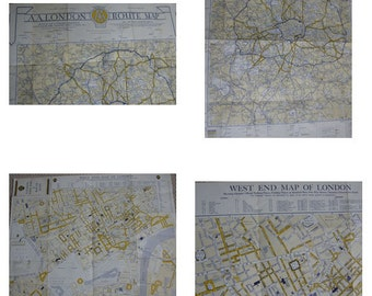 Amazing 1940s map of London and West End,double sided,good conditionideal to frame,30.1/2 in long 2ft high , free uk post