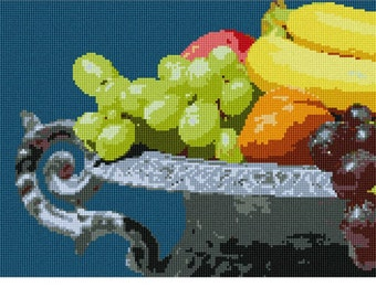 Needlepoint Kit or Canvas: Fruit Platter