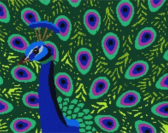 Needlepoint Kit or Canvas: Peacock