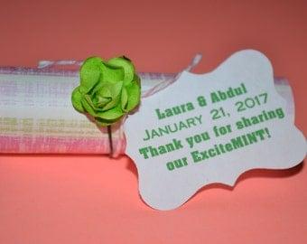 Mint Wedding Favors // Mint Wedding Favor // Thank you... sharing our ExciteMint Wedding Favors //Mint Favors --  -- Quantity 25