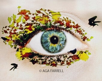 Surreal Art, Fine Art Photography, Eye Art, Woman Art, Nature, Quirky Home Decor, Quirky Gift, Conceptual Art, Textured Photo