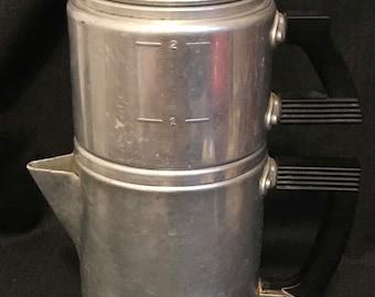 Coffee Pot Aluminum 2 Cup Wearever