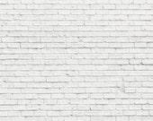 6'x7' Custom White Brick Backdrop