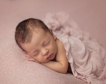 Serenity Ruffle Wrap, Blush Ruffle Wrap, Newborn Photo Prop, Newborn Ruffle Wrap