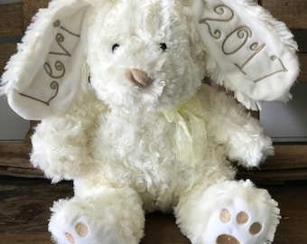 Monogram Easter Bunny Plush Personalized Stuffed Animal