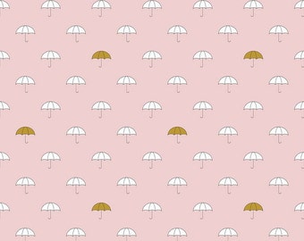 When Skies are Grey Pink Umbrella Riley Blake Designs - SC 5600