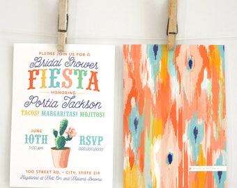 Fiesta Bridal Shower Invitation, Southwest Bridal Shower Invite, Boho Bridal Shower Invite, Mexican Bridal Shower, Envelope Liner