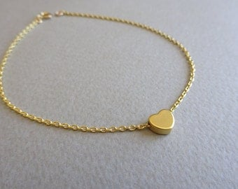 Gold Anklet Dainty Gold Anklet Custom Initial Anklet Delicate Anklet Gold Ankle Bracelet Personalize Jewelry Gold Jewelry Bridesmaids Anklet