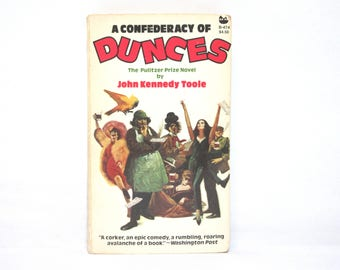 A Confederacy of Dunces by John Kennedy Toole 1982 Vintage Black Cat Paperback Book