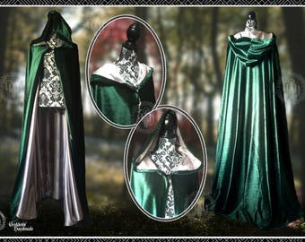 Velvet cloak fully lined, satin lining, pagan, festival, ritual, druid, wicca, gothic, medieval, Rennaisance, cloak, cape