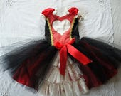 FOR MARELLA - Vintage Queen of Hearts Dress Alice in Wonderland Costume Tea Party Size 7T
