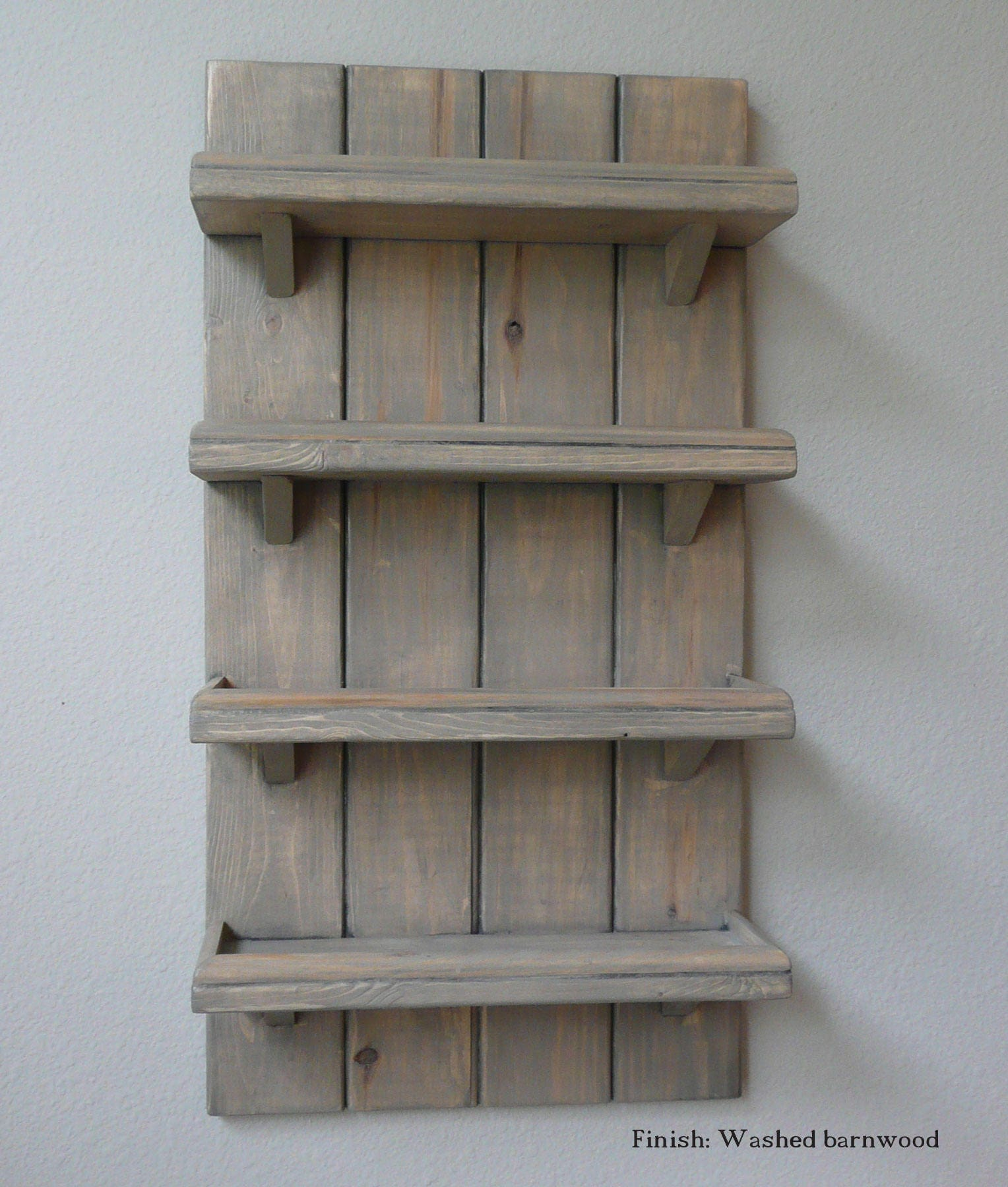 4 shelf farmhouse shelf french country wall shelf or spice for French country shelves