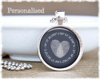 Map Coordinates Jewelry • Long Distance Friendship • Personalised Jewelry • Best Friend Gift • Latitude Necklace • Going Away Gift