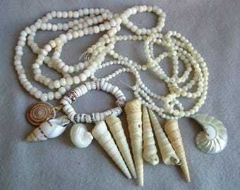 Instant Jewelry - Drilled Shells, Beads MOP