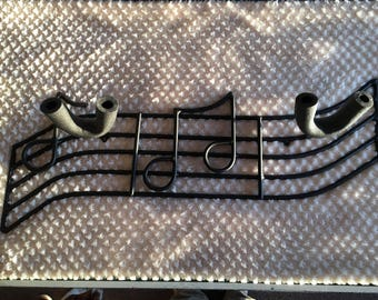 Custom order ..Music guitar holder with notes