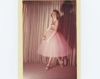 Vintage Snapshot Photo: Ballet Dancer, 1963 (611524)