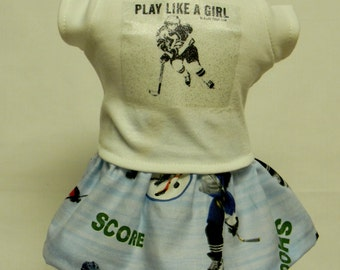 Girls Ice Hockey Theme (1) Outfit For 18 Inch Doll Like The American Girl