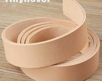 Natural Veg Tanned Leather Straps, Genuine Italian Vegetable Tanned Leather  Strips, Leather for Craft Tooling, Stamping