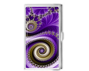 Fractal 1 Business Card Holder - Choose Personalized or Not Card Case Business Card Case Gift Idea - Office Supplies - Credit Card Holder -