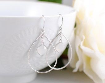 The Amelia Earrings - Silver