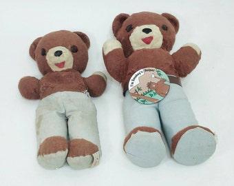 Ideal Toys Smokey the Bear Dolls, 1960s Teddy Bear Smokey,