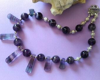 AMAZING  purple coloured necklace