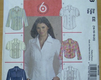 Free shipping! McCall's M5138 shirt sewing pattern 14-16-18-20 UNCUT
