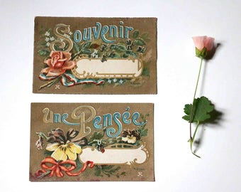 2 old postcards
