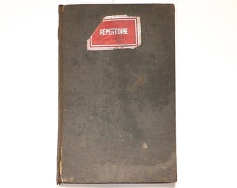 Large old french notebook - repertory notebook - 1921-1925