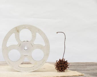 "Vintage Metal 5"" Universal Camera Corporation Film Reel - Old Univex Metal Film Reel - Vintage Film Reel Decor - Industrial Decor"