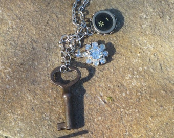 Upcycled Vintage Component Charm Necklace