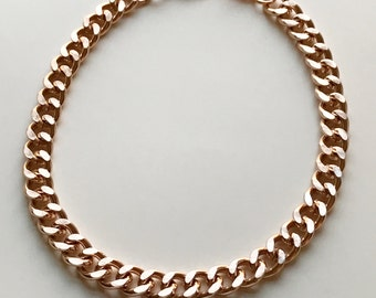 Rose Gold choker necklace chunky chain link choker 24K MAGIC