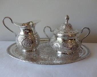 Antique Persian Silver Set