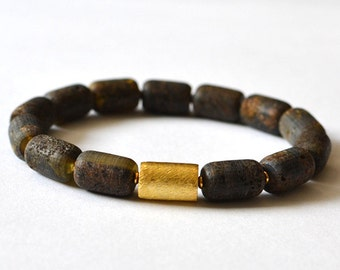 Natural Amber Bracelet, Raw Amber Jewelry, Untreated Amber Bracelet, Natural Bracelet, Amber Gift for Her