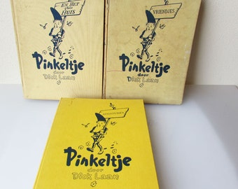 Pinkeltje Set of 3 Books from Dick Laan -  Vintage Children books Holland