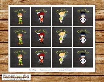 Peter Pan Favor Tags | Peter Pan Party | Peter Pan Birthday Party Favor Tags | Peter Pan Birthday | Peter Pan Invitation