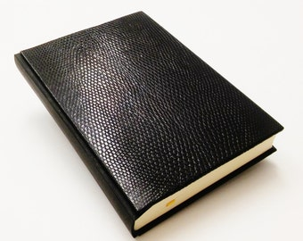 2017 Daily Planner - Unique Elegant Black Reptile Leather