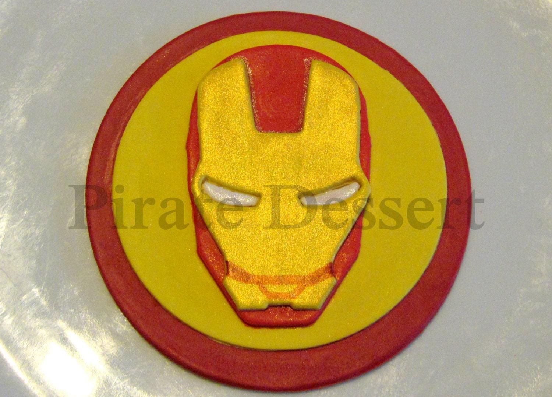 IRON MAN Edible Cake Topper Avengers Edible SUPERHERO cake