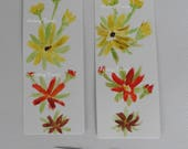 Bookmarks, Multi Daisy- Watercolor Paintings, floral bookmarks, flower art, painted flower paper crafts, Fine Art paintings